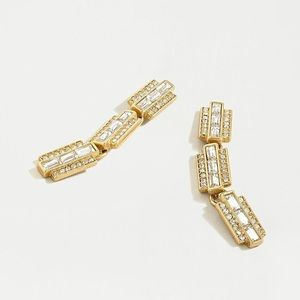 ❗️LAST ONE❗️J. Crew Special Pave Link Earrings
